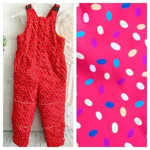 Hanna Andersson Girl's 120 6/7 Dotted Red Snowsuit